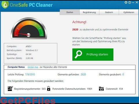 OneSafe PC Cleaner Pro 7.0 With crack