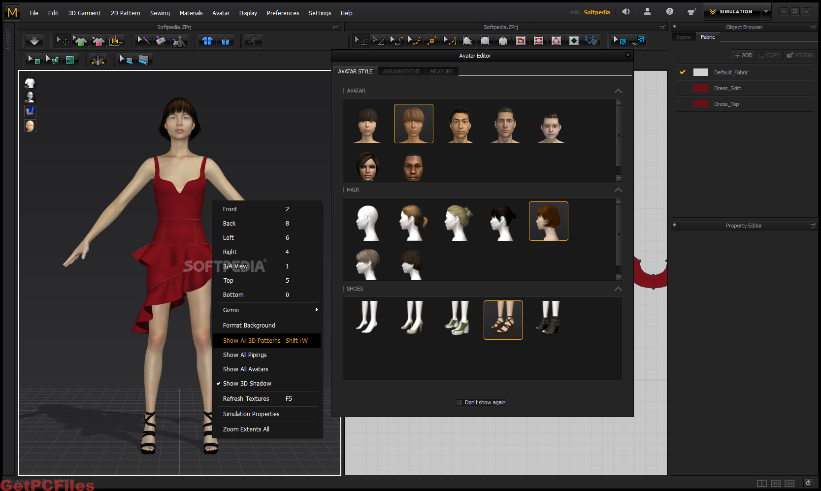 By applying changes to the pattern, this is immediately displayed on the curtain of the 3D garment in real time and you can experiment freely. Multi-layer fabric shapes are supported (wrinkles, wrinkles, wrinkles, swirls, etc.)