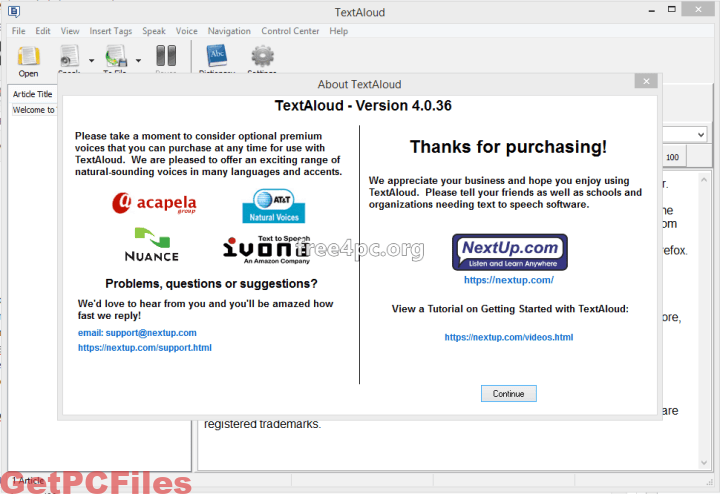 NextUp TextAloud 4.0.49 with Crack